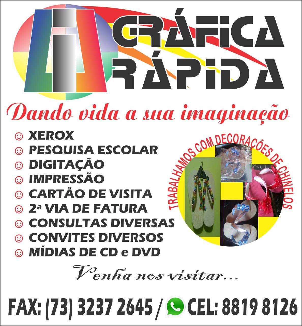 CHEGOU EM BUERAREMA  A NOSSA GRÁFICA!!!