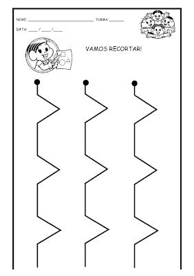 Atividades de RECORTE-Coordenação Motora,coordenação motora fina,pontilhado,recorte,educação infantil