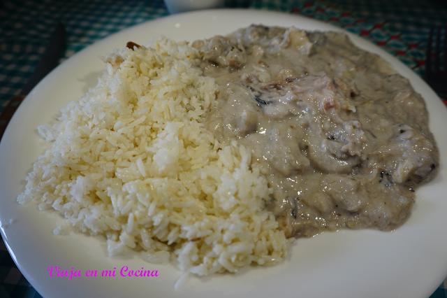 Bundiga con arroz en coco
