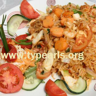Basmati rice and shrimps