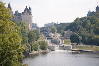 Rideau Canal and Chateau Laurier Ottawa
