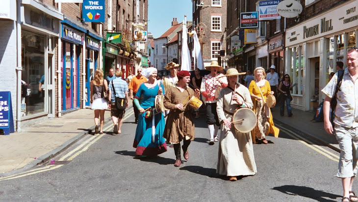procession in the York Mystery Plays