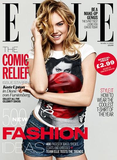 Elle Uk March 2015 - Keira Knightley, Kate Upton, Daisy Lowe, Pixie Geldof, Abbey Clancy