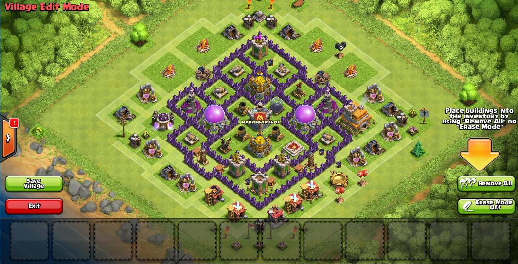 Design Base Town Hall 7 Clash Of Clan. | MAKASSAR 1607