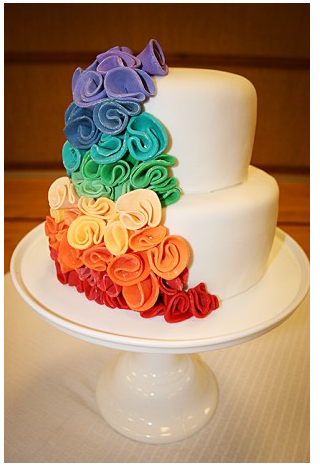 Rainbow Wedding Cake Designs Rainbow Trend Continued