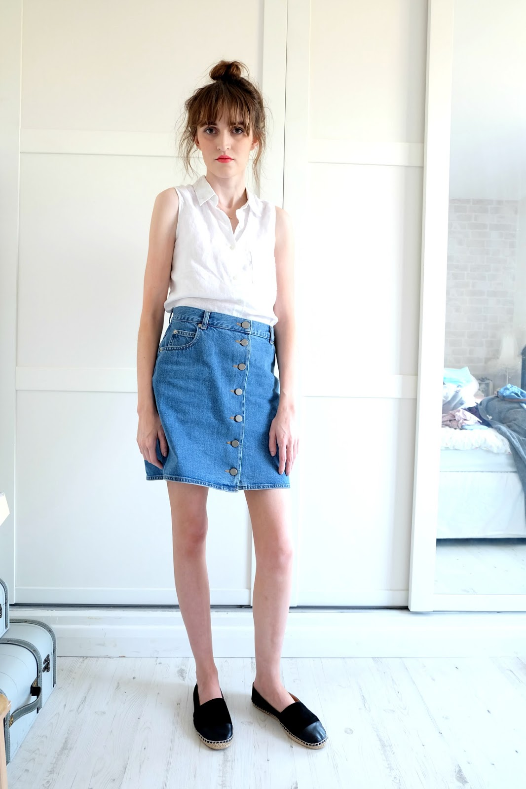 Sick Chick Chic: FASHION | The Button Down Denim Skirt