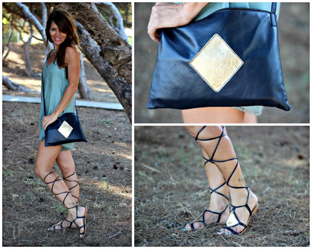 Playsuit - sandalias romanas - Feler sunnies - Cuchicuchi fashion - fashion blogger - Guardamar