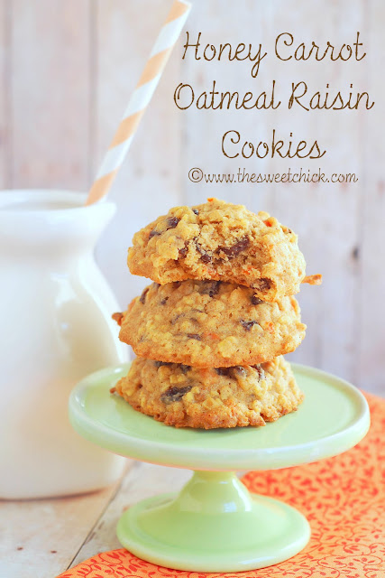 The Sweet Chick: Honey Carrot Oatmeal Raisin Cookies