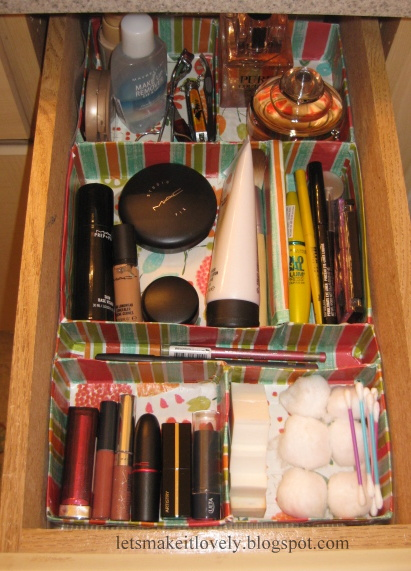 DIY Customized Makeup Drawer Organizer