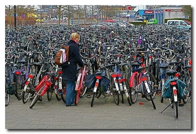 велостоянка в Голландии