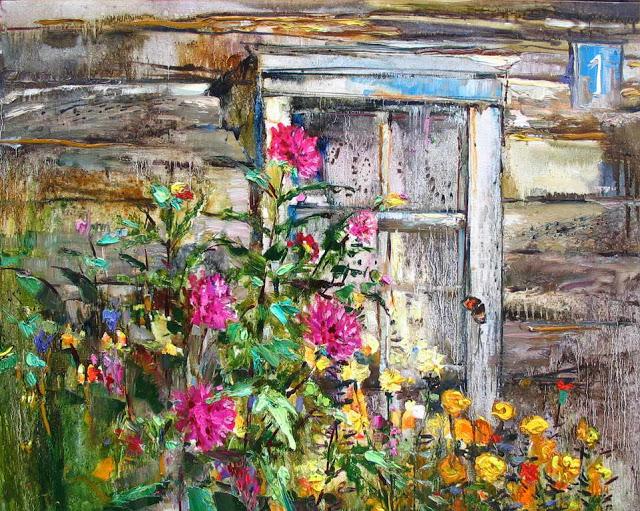 В. Пешкун цветы у окна