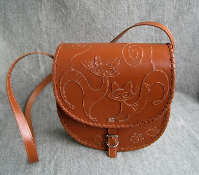 Cat Handbag, Crossbody, Leather, Made by Kotylasya Torba Studio, Ukraine