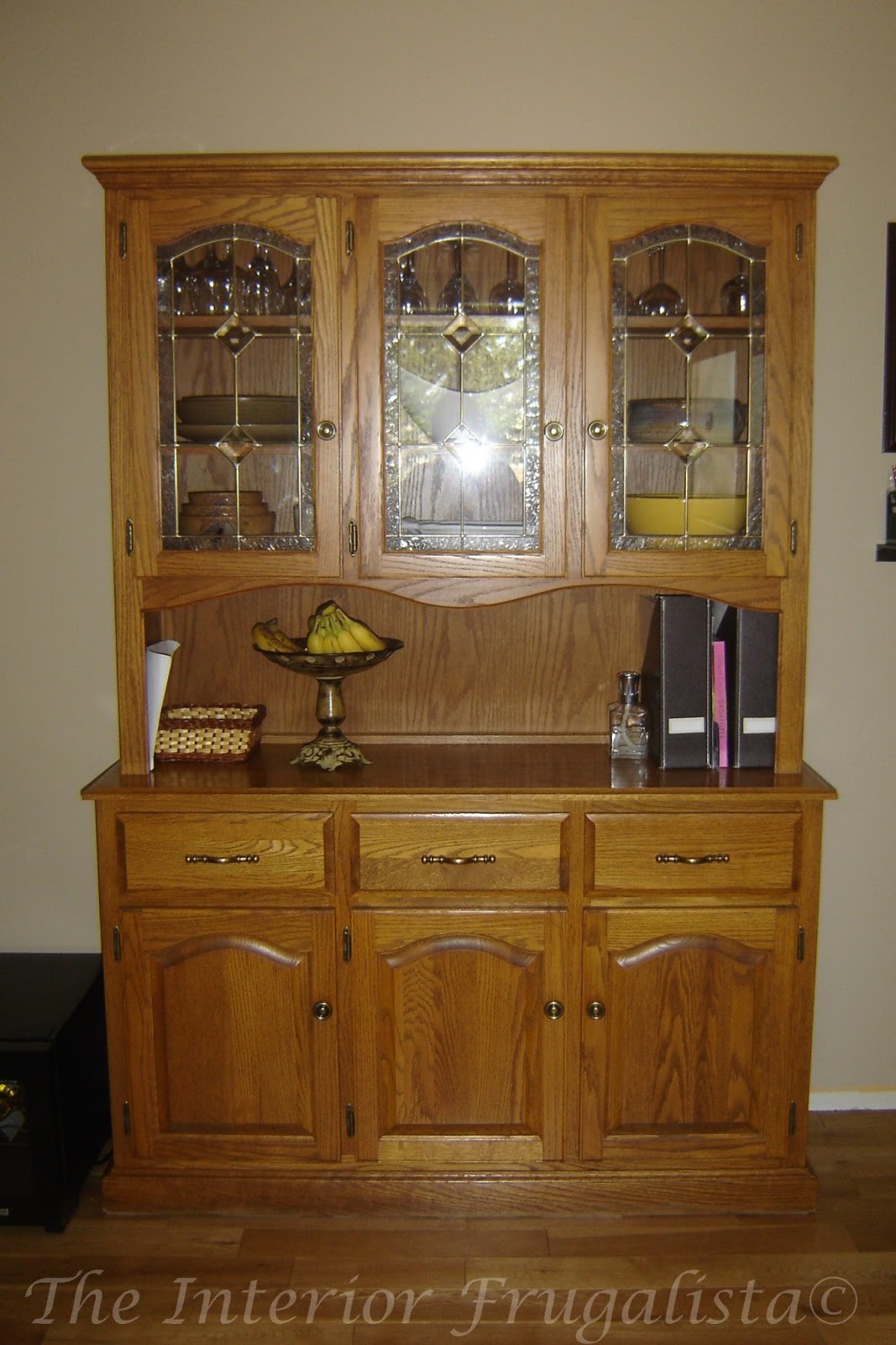 diy china cabinet to small pantry before