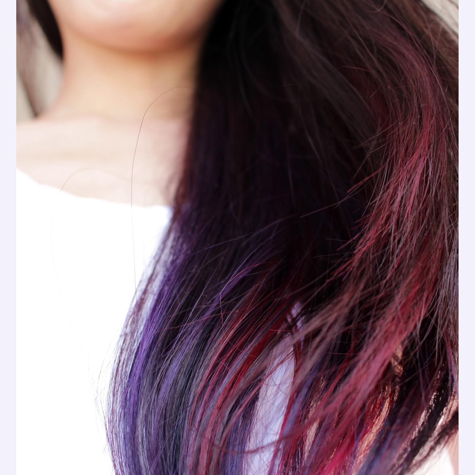 Brown Hair With Purple Underneath Best 25 Purple Highlights