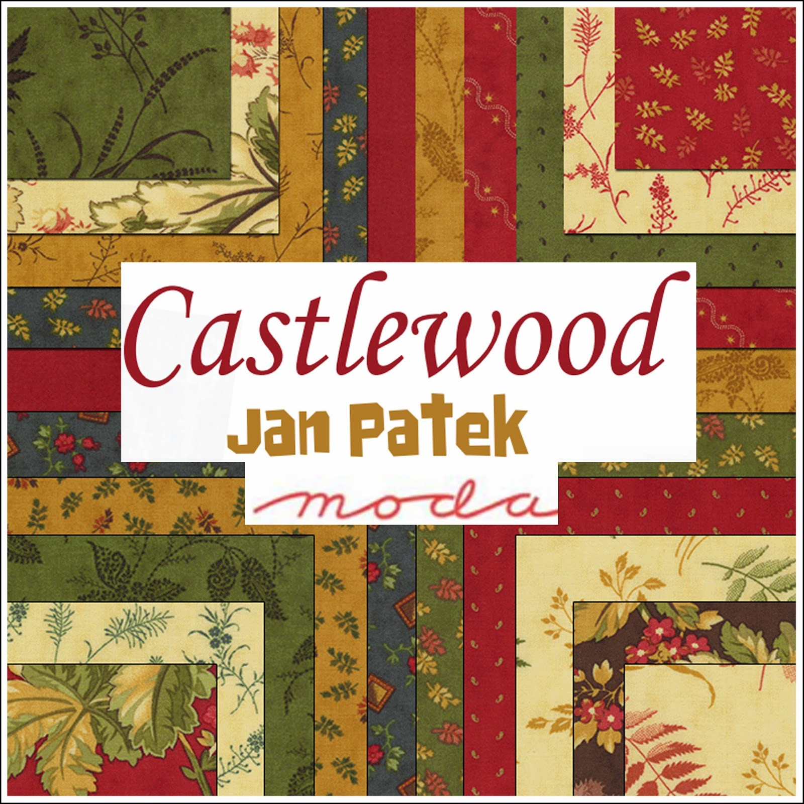Moda CASTLEWOOD Quilt Fabric by Jan Patek for Moda Fabrics