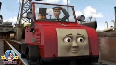 Birthday Sir Topham Hatt Thomas the train blue mountain mystery Winston the red car trolley driver