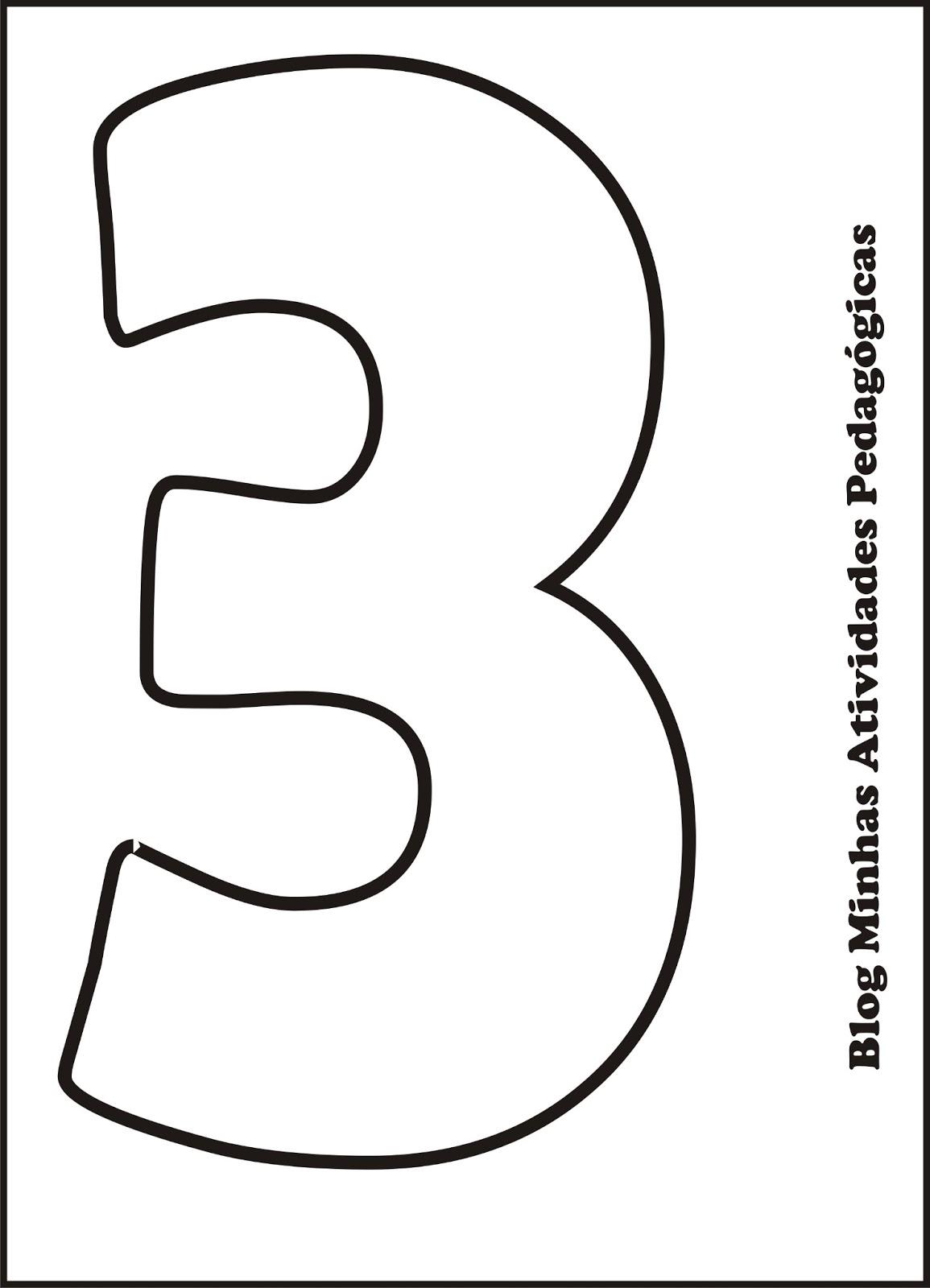 Minhas Atividades Pedagógicas: Molde de Números para imprimir
