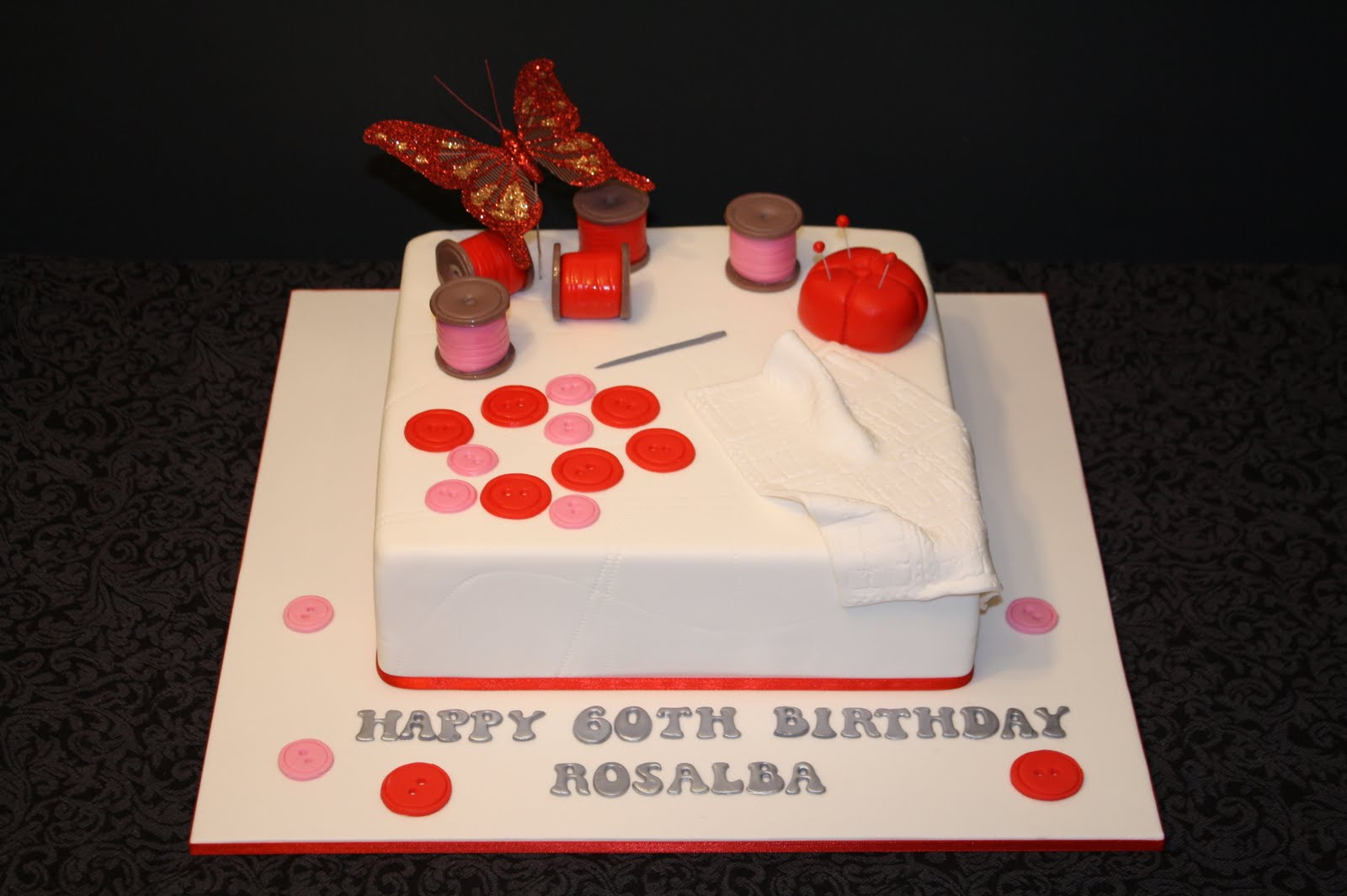 Sandys Cakes Rosablas Sewing Birthday Cakes