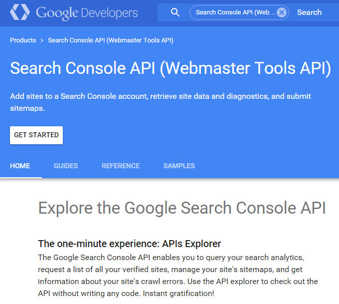 Google search console propose une nouvelle api for Search console