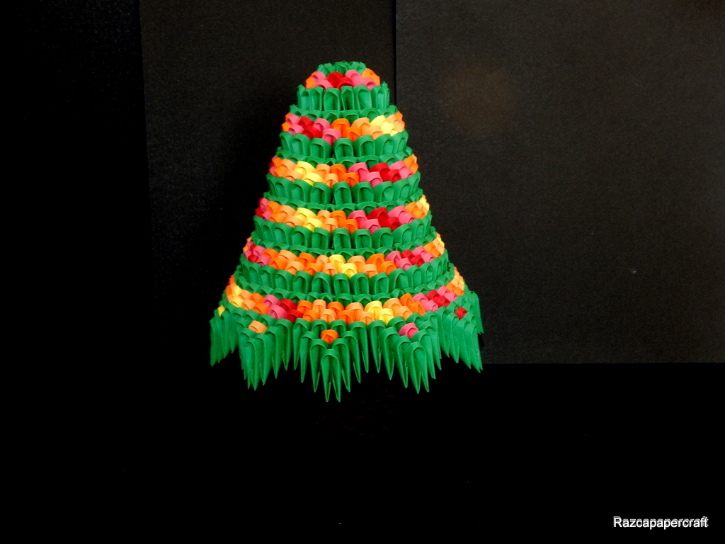 razcapapercraft 3d origami christmas tree tutorial