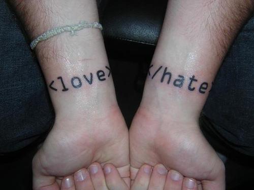 Love Hate Tattoo