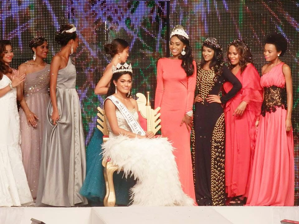 Miss World Fiji 2014 winner Charlene Sulueti Tafunai'i