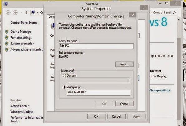 Cara Mengganti/ Mengubah Nama Komputer Pada Windows 8