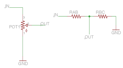 potentiomètre volume