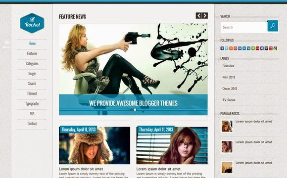 Rocket Blogger Template   High Quality Free Blogger Templates