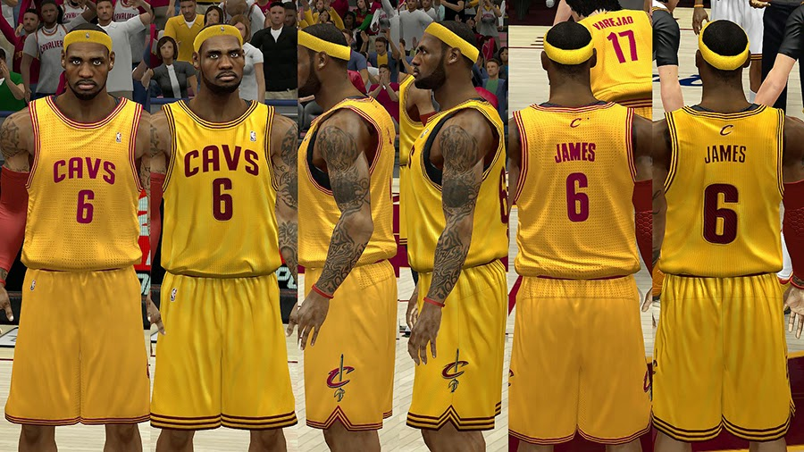 NBA 2K14 Cavs HD Jersey Mod Pack