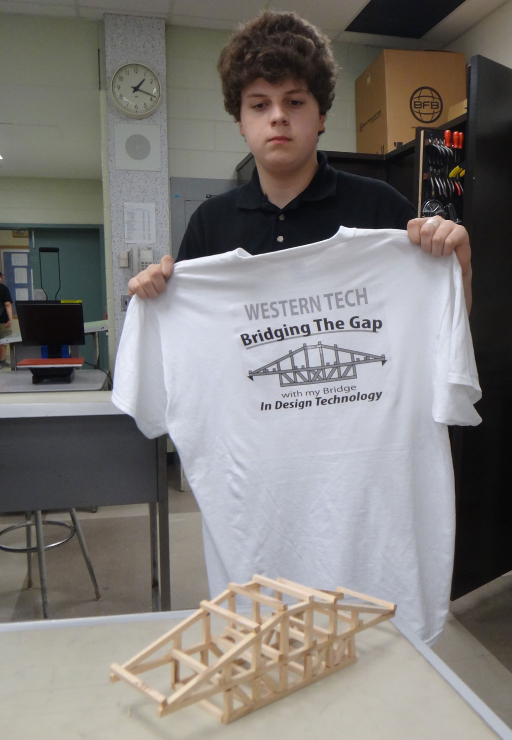 Western technical commercial school may 15 2012 for Heat pressed t shirts