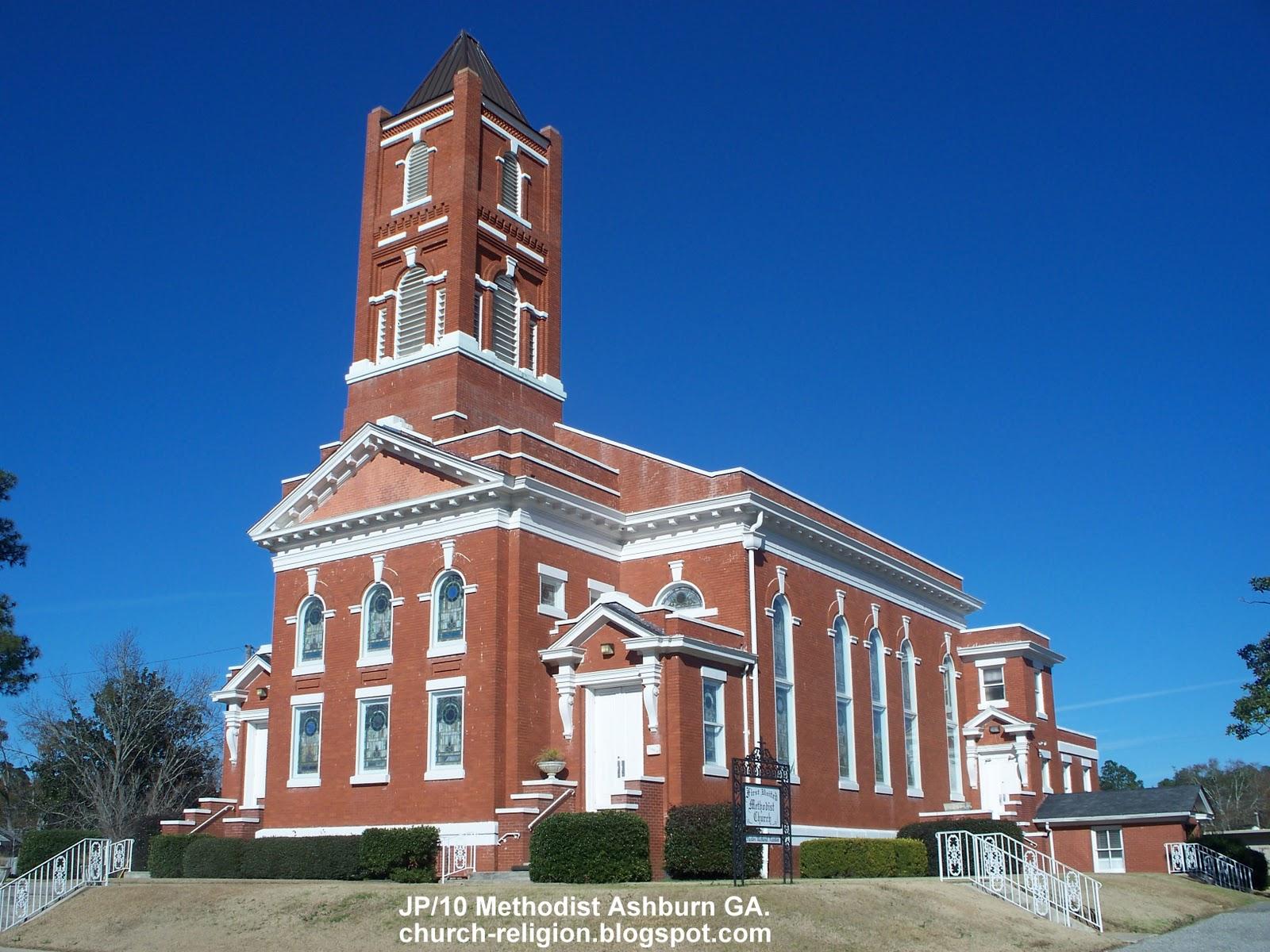 Methodist churches 2c first methodist church 2c ashburn georgia corner