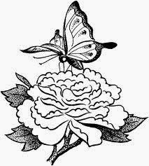 Mewarnai gambar bunga dan kupu-kupu untuk anak 10