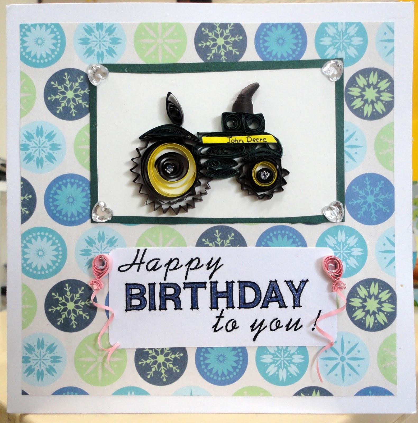 Adhiraacreations Birthday Card – Tractor Birthday Cards