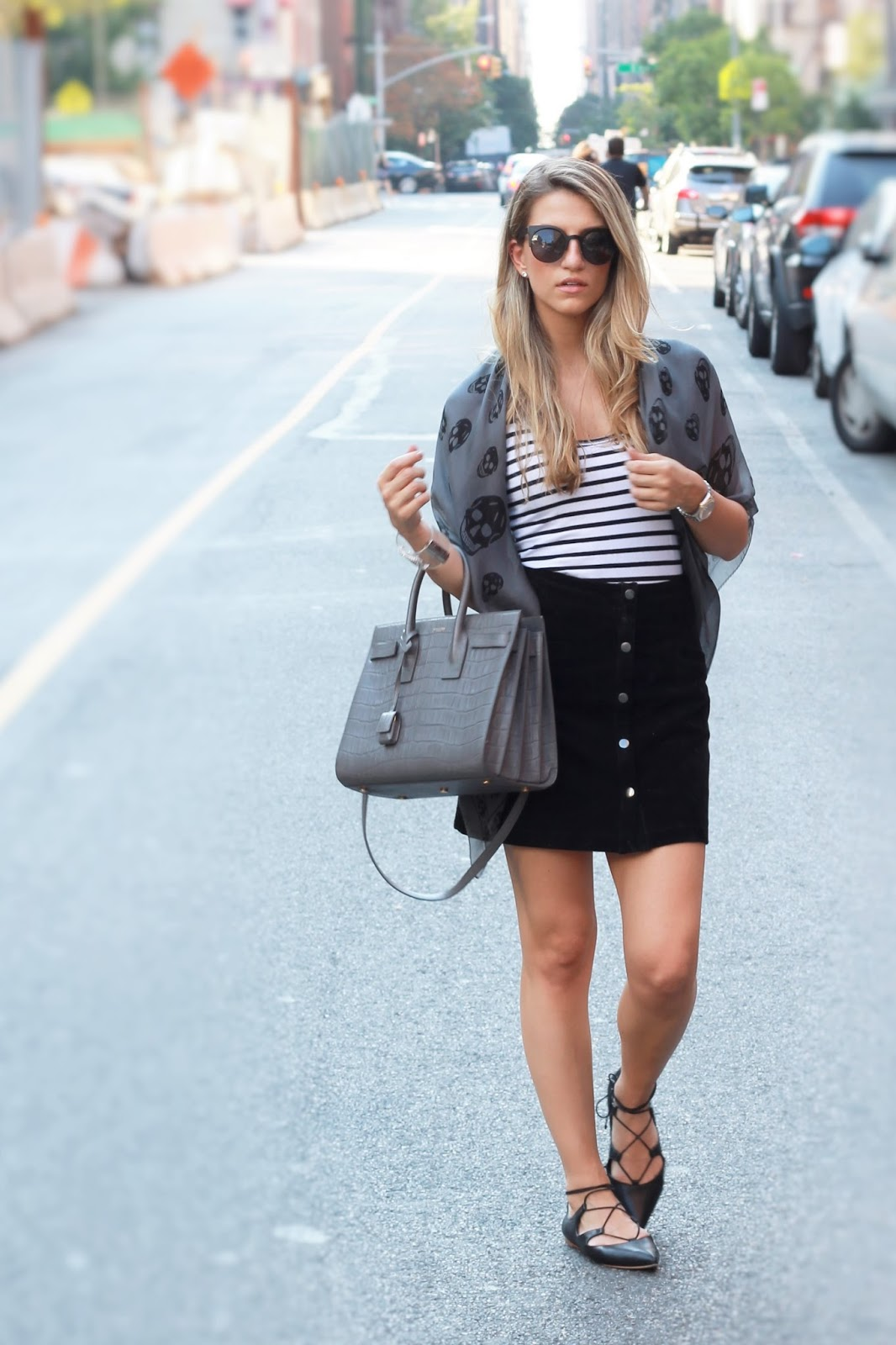 loeffler randall ambra flats, lace up flat outfit ideas