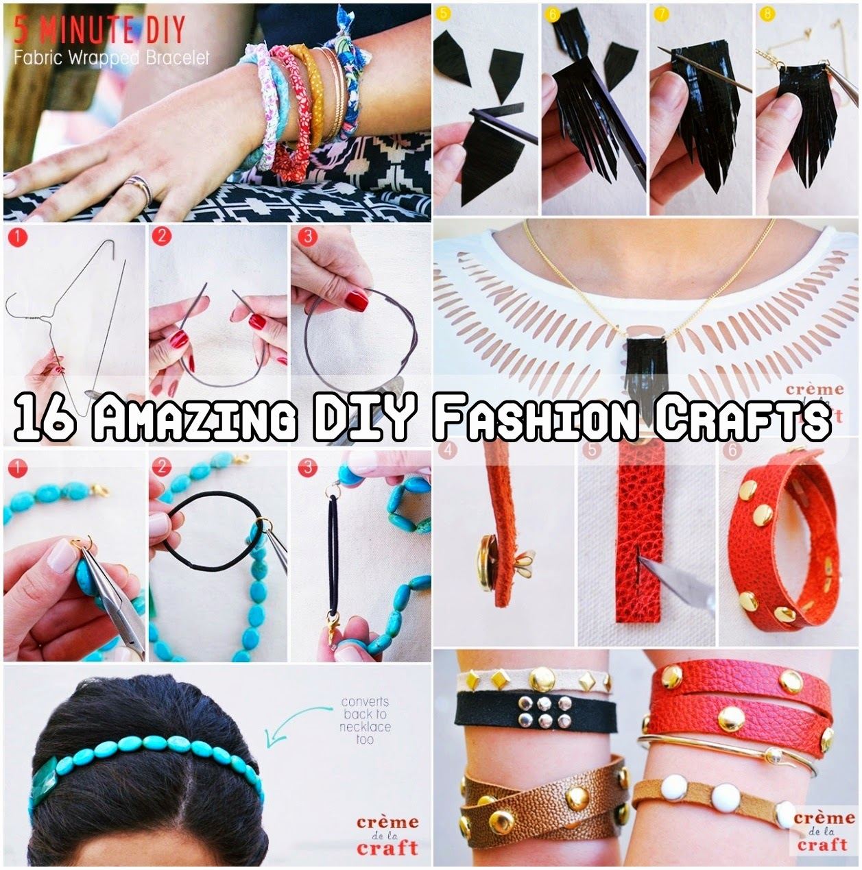 16 Amazing DIY Fashion Crafts
