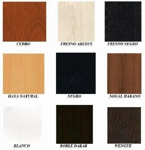 Colores de Melamina para Tapas de Mesa