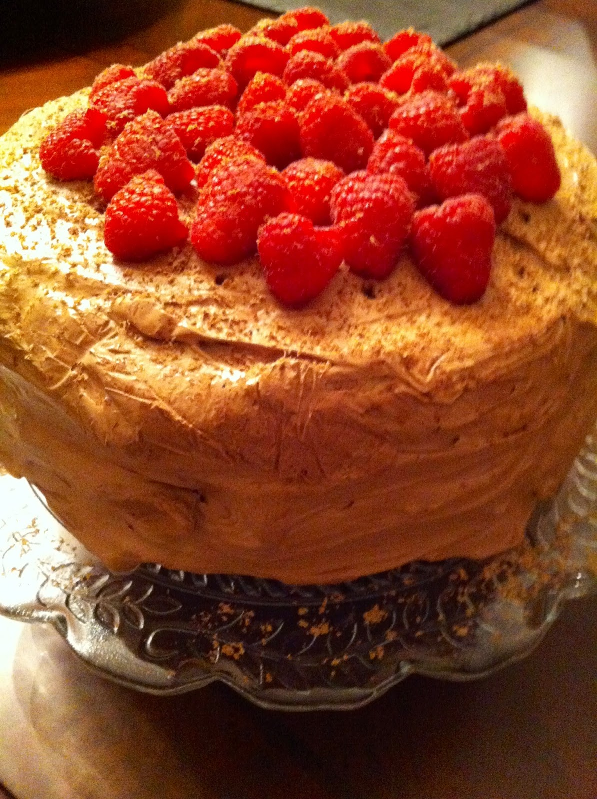 Kitty s kozy kitchen chocolate mocha cake with raspberry filling