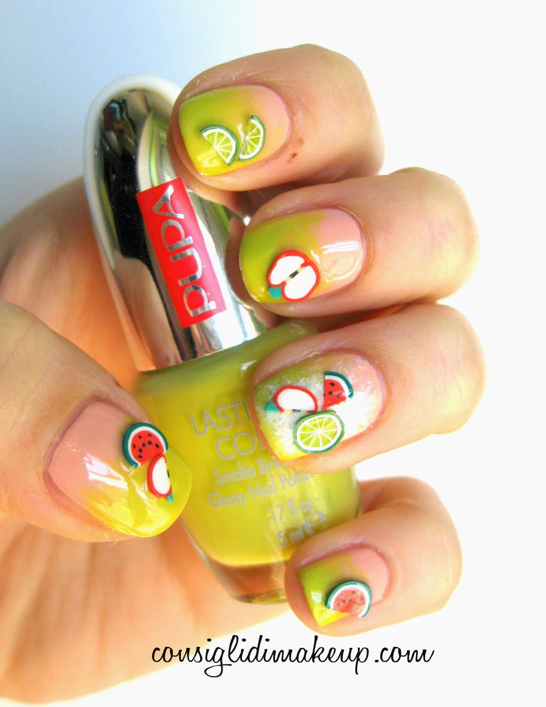 pupa juicy fruits nail art kit