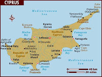Cyprus is in the Leventine sea in the mediterranean