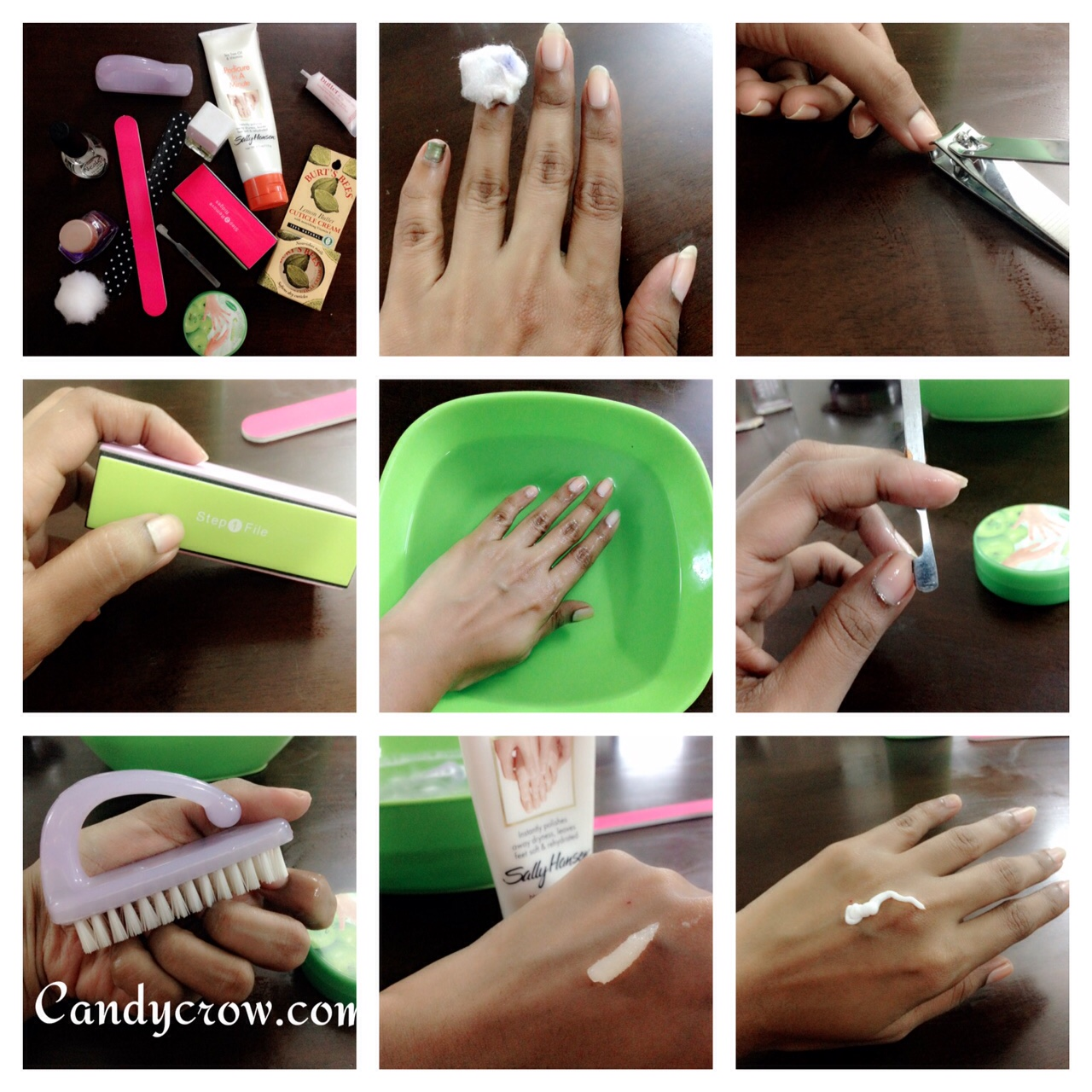 Diy manicure in 6 steps candy crow top indian beauty and diy manicure in 6 steps hoe to do manicure at home manicure steps solutioingenieria Choice Image
