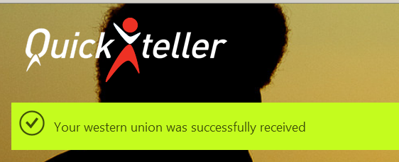 quickteller western union confirmation