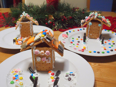 Mini Christmas Edible Gingerbread House Craft For Kids