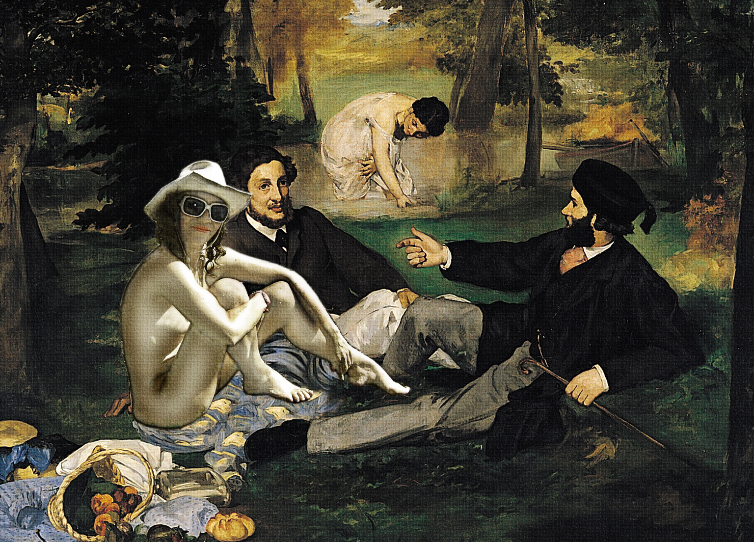 Photo bgr picnic de edouard manet for Almuerzo en frances
