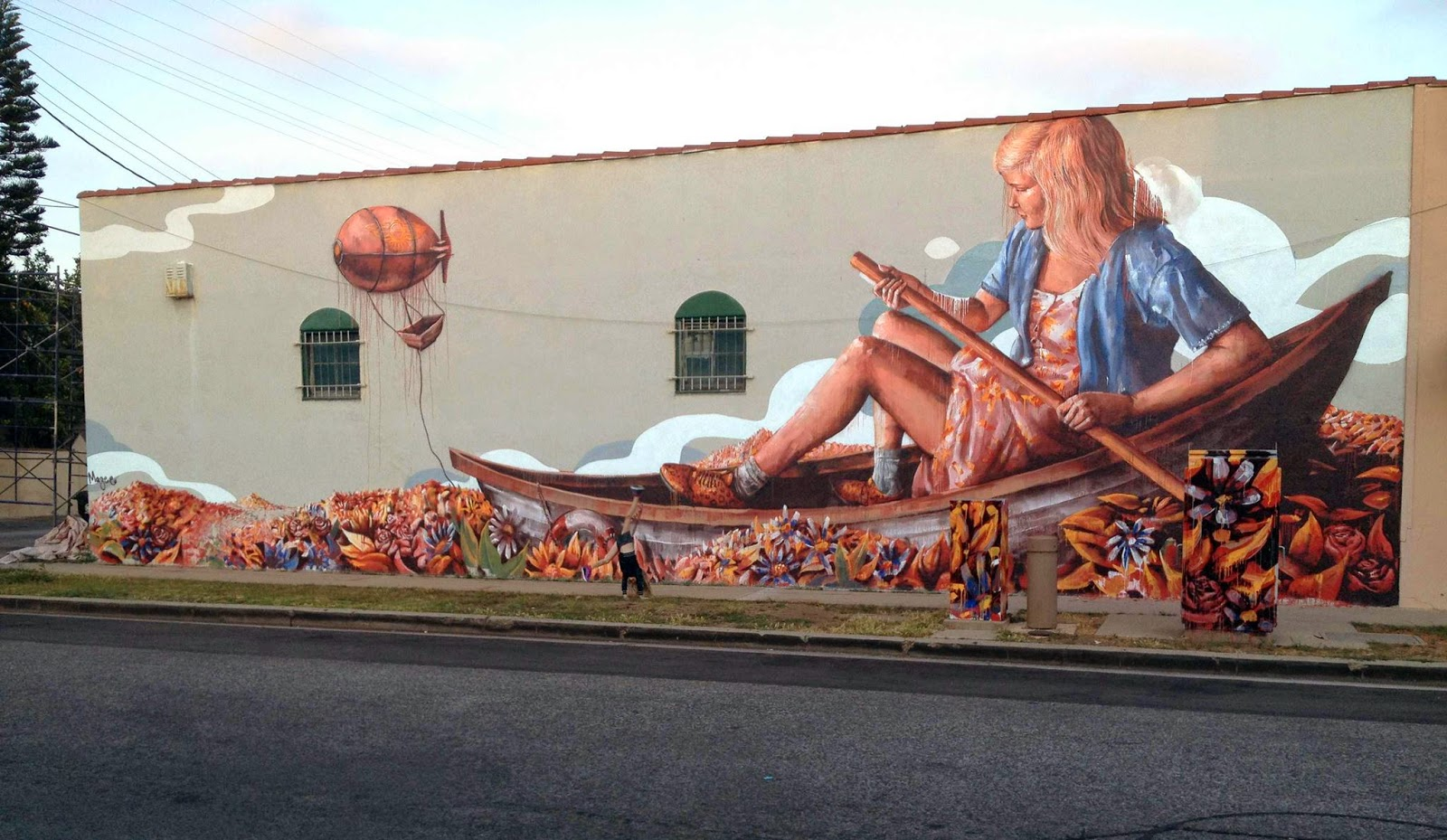 Fintan magee the zeppelin new mural culver city los for Dallas mural artists