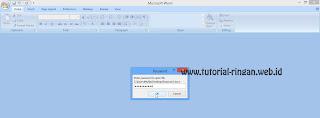 Masukkan Password Untuk Membuka Dokumen