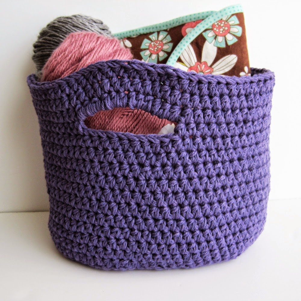 Crocheting Baskets : Crochet Stash Basket: free crochet pattern Shes Got the Notion