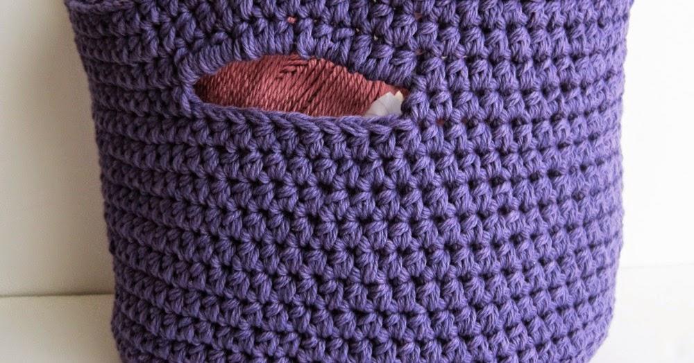 Crochet Basket: free crochet pattern