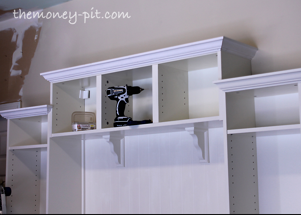 I repeated the process with all the cabinets and then for Garage built ins