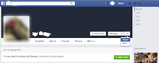 Facebook timeline fake account report